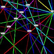 figure 6 - AlTi3 t-EBSD simulation