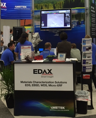 The EDAX booth at M&M 2015