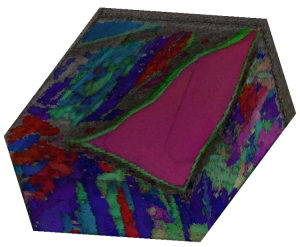 Figure 6 - 3D EBSD data from Gibeon meteorite.