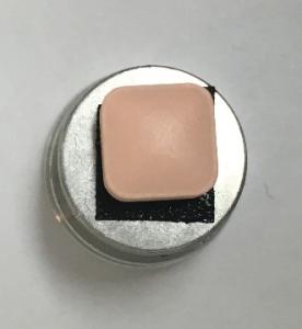 Figure 2. A random pinkish pill on an SEM stub.