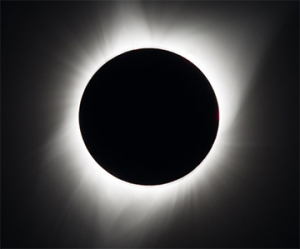 Figure 1. Total solar eclipse - image from nasa.gov