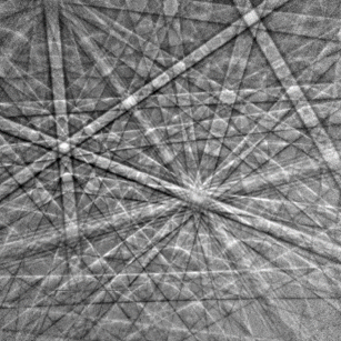 EBSD pattern from Silicon using the Clarity™ detector.
